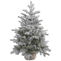 36 Inch Frosted Sable Pine Artificial Christmas Tree Unlit
