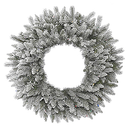 24 Inch Frosted Sable Pine Wreath