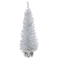 36 Inch Crystal Silver Artificial Christmas Tree Unlit