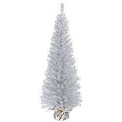 48 Inch Crystal Silver Artificial Christmas Tree Unlit