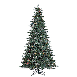 9 Foot Crystal Balsam Artificial Christmas Tree 1000 DuraLit Mu Light i Lights