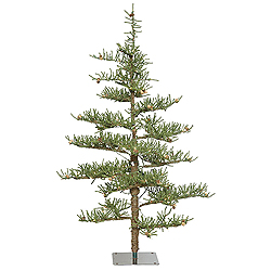 4.5 Foot Crestview Pine Artificial Christmas Tree 100 DuraLit Clear Lights