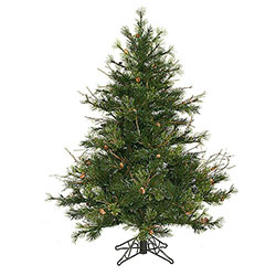 4.5 Foot Mixed Country Pine Artificial Christmas Tree Unlit