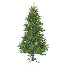 6.5 Foot Slim Mixed Country Pine Artificial Christmas Tree Unlit