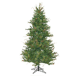 7.5 Foot Slim Mixed Country Pine Artificial Christmas Tree Unlit