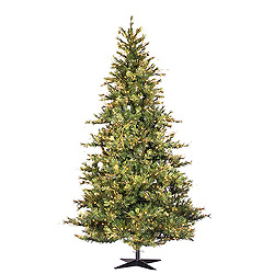 7.5 Foot Slim Mix Country Pine Artificial Christmas Tree 650 Clear Lights