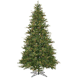9 Foot Slim Mix Country Pine Artificial Christmas Tree 950 DuraLit Clear Lights