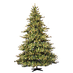 10 Foot Mixed Country Artificial Christmas Tree 1450 DuraLit Clear Lights