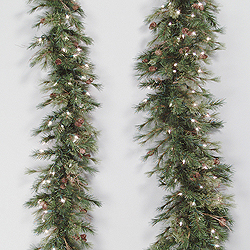 6 Foot Mixed Country Swag Garland 50 Clear Light