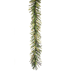 9 Foot Mixed Country Garland 100 LED Warm White Lights