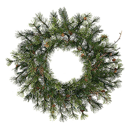 24 Inch Mixed Country Pine Artificial Christmas Wreath Unlit