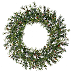 60 Inch Mixed Country Pine Wreath Unlit