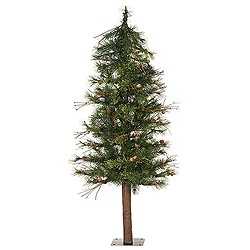 4 Foot Mixed Country Alpine Artificial Christmas Tree Unlit