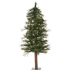 7 Foot Mixed Country Alpine Artificial Christmas Tree Unlit