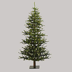 7 Foot Minnesota Half Artificial Christmas Tree 300 DuraLit Clear Lights