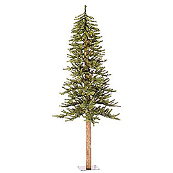 2 Foot Natural Alpine Artificial Christmas Tree 35 Multi Lights