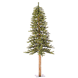 5 Foot Natural Alpine Artificial Christmas Tree 150 Clear Lights