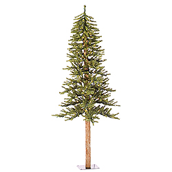 6 Foot Natural Alpine Artificial Christmas Tree - 250 Clear Lights