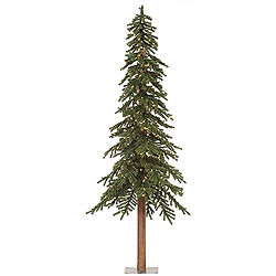 9 Foot Natural Alpine Artificial Christmas Tree 500 Clear Lights