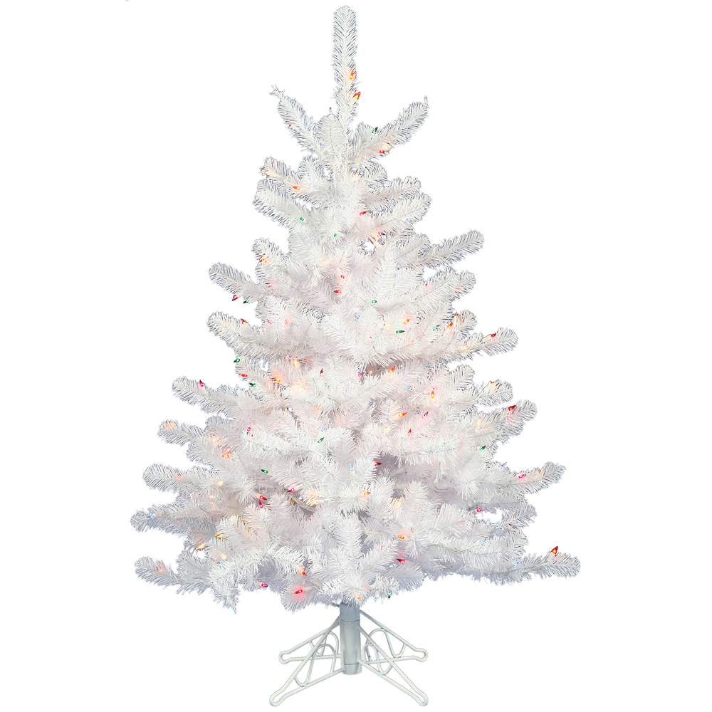 3 Foot Crystal White Artificial Christmas Tree Unlit