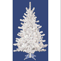 3 Foot Crystal White Artificial Christmas Tree 50 DuraLit Clear Lights