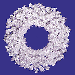 5 Foot Crystal White Wreath