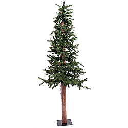 5 Foot Alpine Artificial Christmas Tree With Pine Cones Unlit