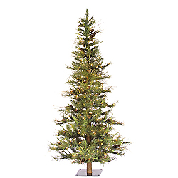6 Foot Ashland Artificial Christmas Tree 450 DuraLit Clear Lights