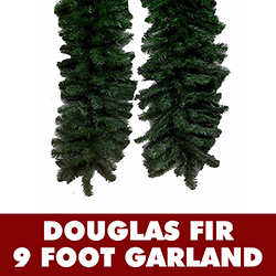 9 Foot Douglas Fir Garland 12 Inch Wide