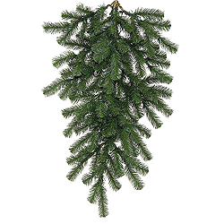 48 Inch Douglas Fir Artificial Christmas Teardrop Unlit