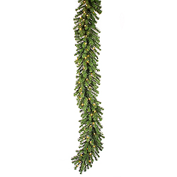 9 Foot Douglas Fir Swag Garland 100 LED Warm White Lights