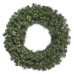 30 Inch Douglas Fir Wreath 50 LED Warm White Lights