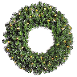 36 Inch Douglas Wreath 100 DuraLit Clear Lights