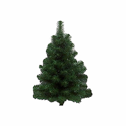 3 Foot Douglas Wall Artificial Christmas Tree 100 DuraLit Clear Lights