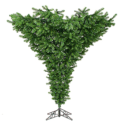 7.5 Foot Upside Down Artificial Christmas Tree Unlit