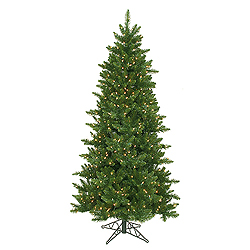 6.5 Foot Camdon Slim Artificial Christmas Tree 550 DuraLit Clear Lights