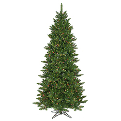 7.5 Foot Camdon Slim Artificial Christmas Tree 700 Multi Lights
