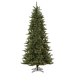 9.5 Foot Camdon Slim Artificial Christmas Tree 1000 DuraLit Clear Lights