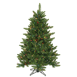 4.5 Foot Camdon Fir Artificial Christmas Tree 200 LED Multi Lights