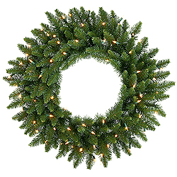 24 Inch Camdon Fir Artificial Christmas Wreath 50 Multi Color LED Lights