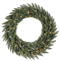 36 Inch Camdon Fir Wreath 100 LED Warm White Lights