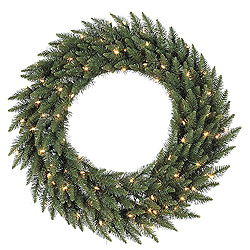 4 Foot Camdon Fir Wreath 200 LED Warm White Lights