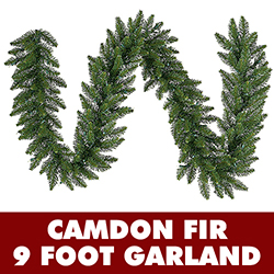 9 Foot Camdon Fir Artificial Christmas Garland 14 Inch Wide Unlit