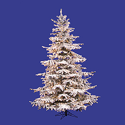10 Foot Flocked Sierra Fir Artificial Christmas Tree Unlit
