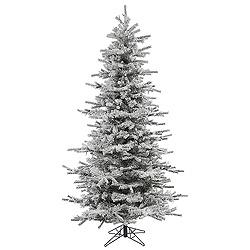 7.5 Foot Flocked Slim Sierra Artificial Christmas Tree Unlit