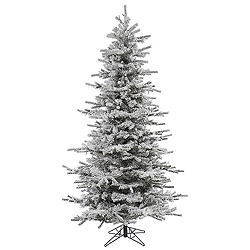 10 Foot Flocked Slim Sierra Artificial Christmas Tree Unlit