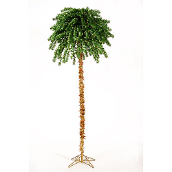 7 Foot Tinsel Palm Tree 350 Green Lights 100 Clear Lights