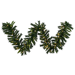 50 Foot Imperial Pine Garland 300 LED Warm White Lights