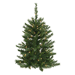 3 Foot Imperial Pine Wall Artificial Christmas Tree 50 DuraLit Clear Lights