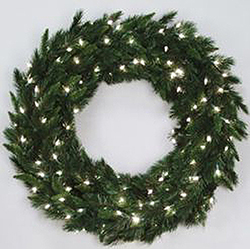 36 Inch Imperial Pine Wreath 100 DuraLit Clear Lights